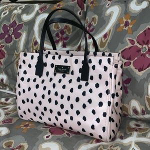 Kate Spade, Small Loden, Flamingo Dot Tote